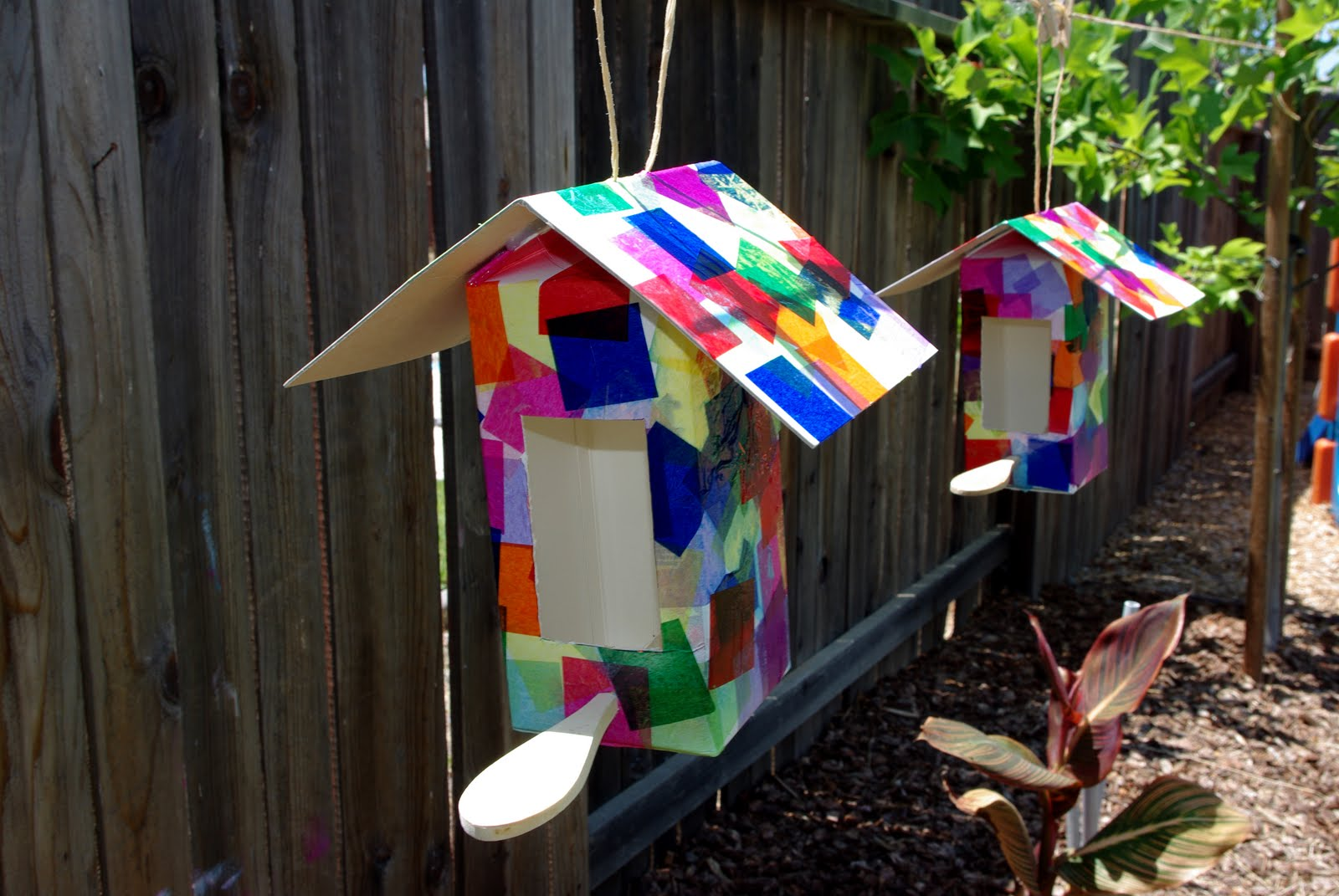 Collage birdhouses tutorial happiness is homemade for Make a waste material things