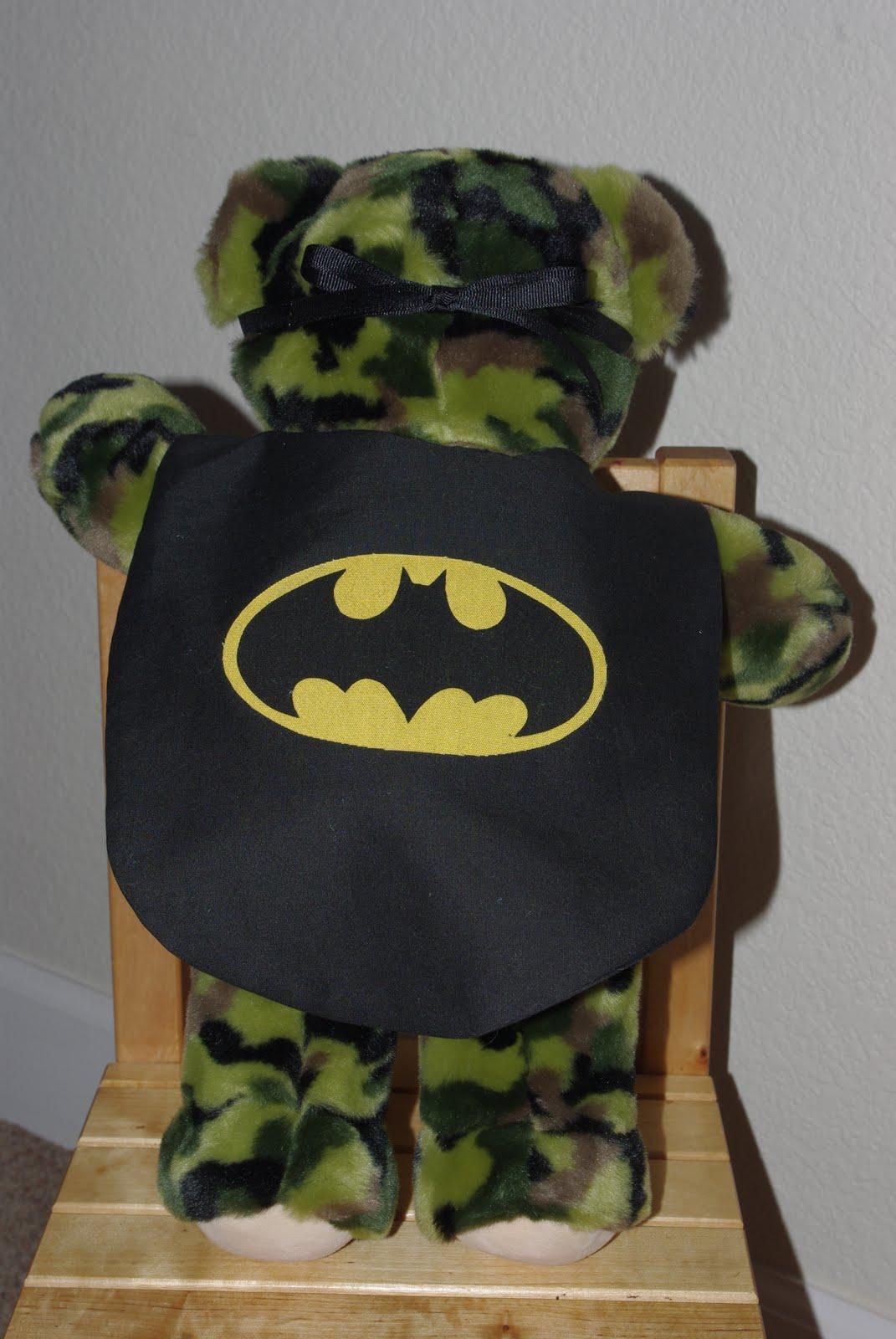 teddy bear batman disguise happiness is homemade