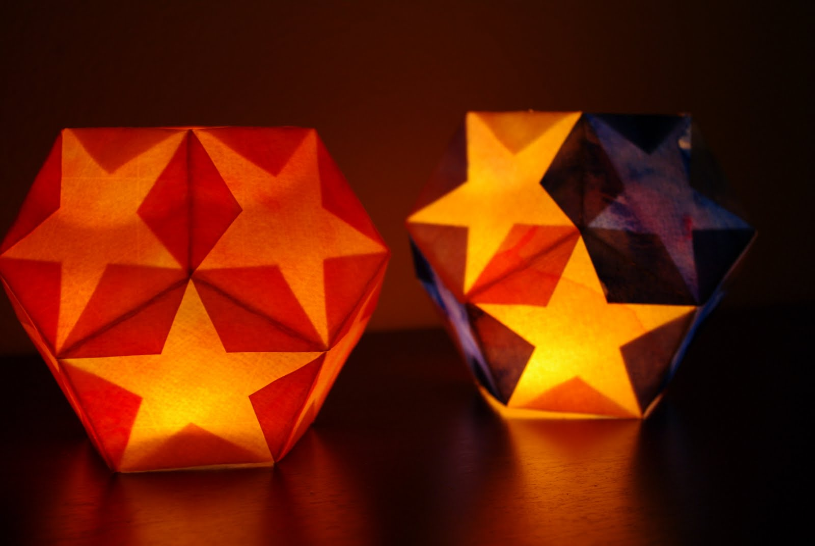 Dodecahedron Star Lantern Tutorial - Happiness is Homemade for Paper Bag Lanterns Diy  110ylc